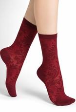 Bleu Forêt Rock garden lacy silk socks