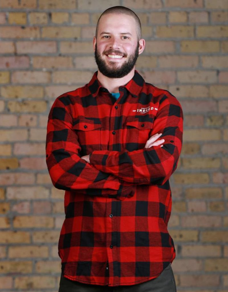 Burnside Men's Buffalo Check Flannel Shirt - Red/Black