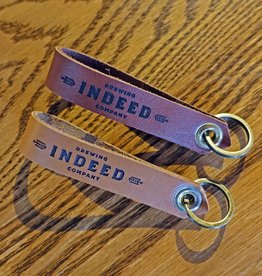 Indeed Brewing Leather Keychain