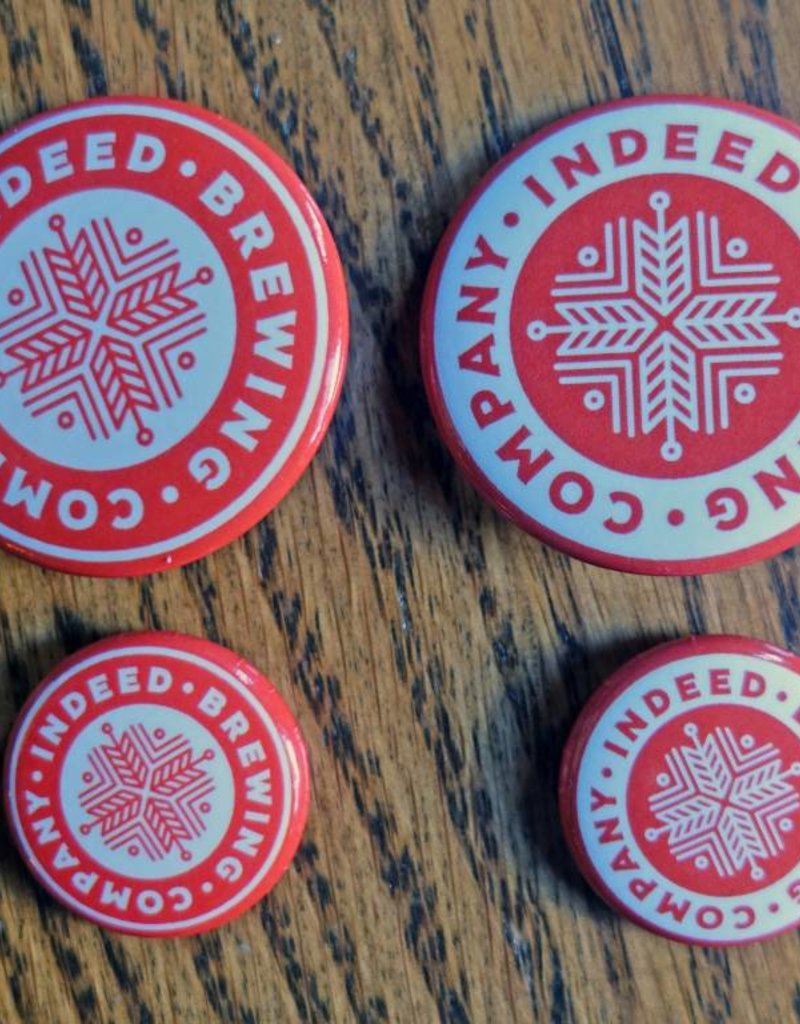 Indeed Brewing Button - Circle Logo