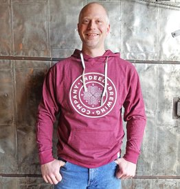 Legacy French Terry Fleece Hoodie w/Applique - Heather Burgundy