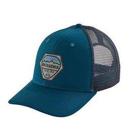 PATAGONIA FITZ ROY HEX TRUCKER HAT BIG SUR BLUE O/S