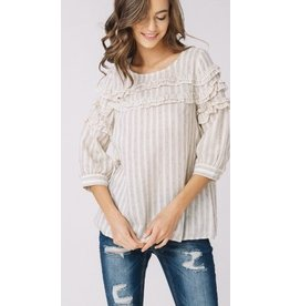 Savannah Ruffle Blouse