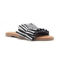 Delaney Striped Sandal