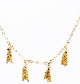 Elizabeth Stone Mini Tassel Necklace