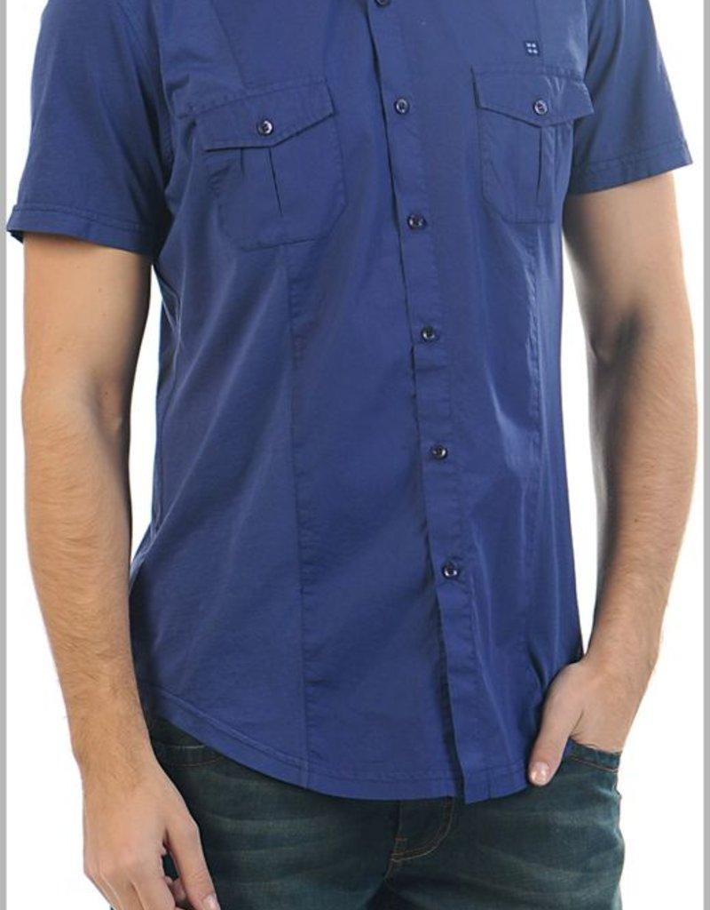 Avva Mor cotton contrast pocket sslv dress shirt
