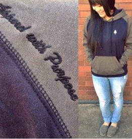 Union Aparel Gray Nights lslv hoodie