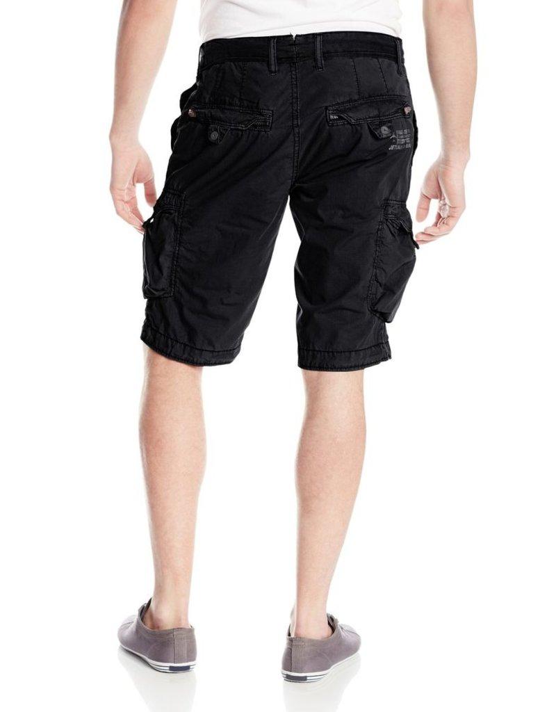 Jetlag Jakarta denim waistband cargo zip & button flap pockets 1/2 short