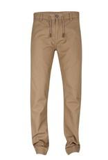 Blend Khaki Drawstring Waist 4-Pkt Cuffed Hem Straight Leg Pant