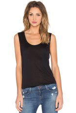 Bella Luxx Roll-Cuff Scoop Neck Relaxed Muscle Tank