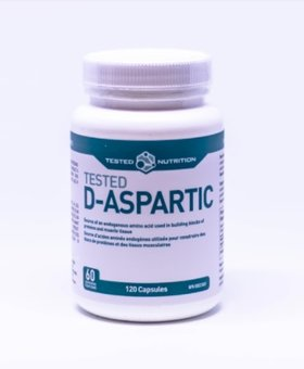 Tested Tested Nutrition D Aspartic Acid 120 Caps