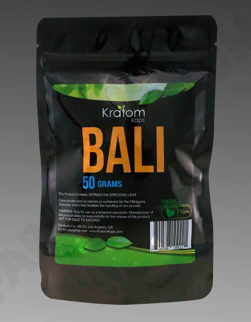 Kratom Kaps Kratom Kaps Bali 50g, 100ct Capsule Bag