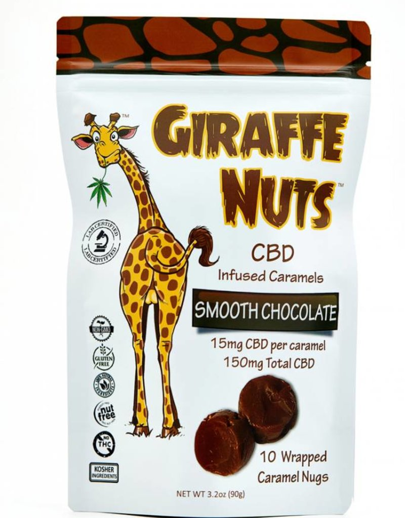 Giraffe Nuts Giraffe Nuts 150mg CBD Chocolate Chew - Caramels