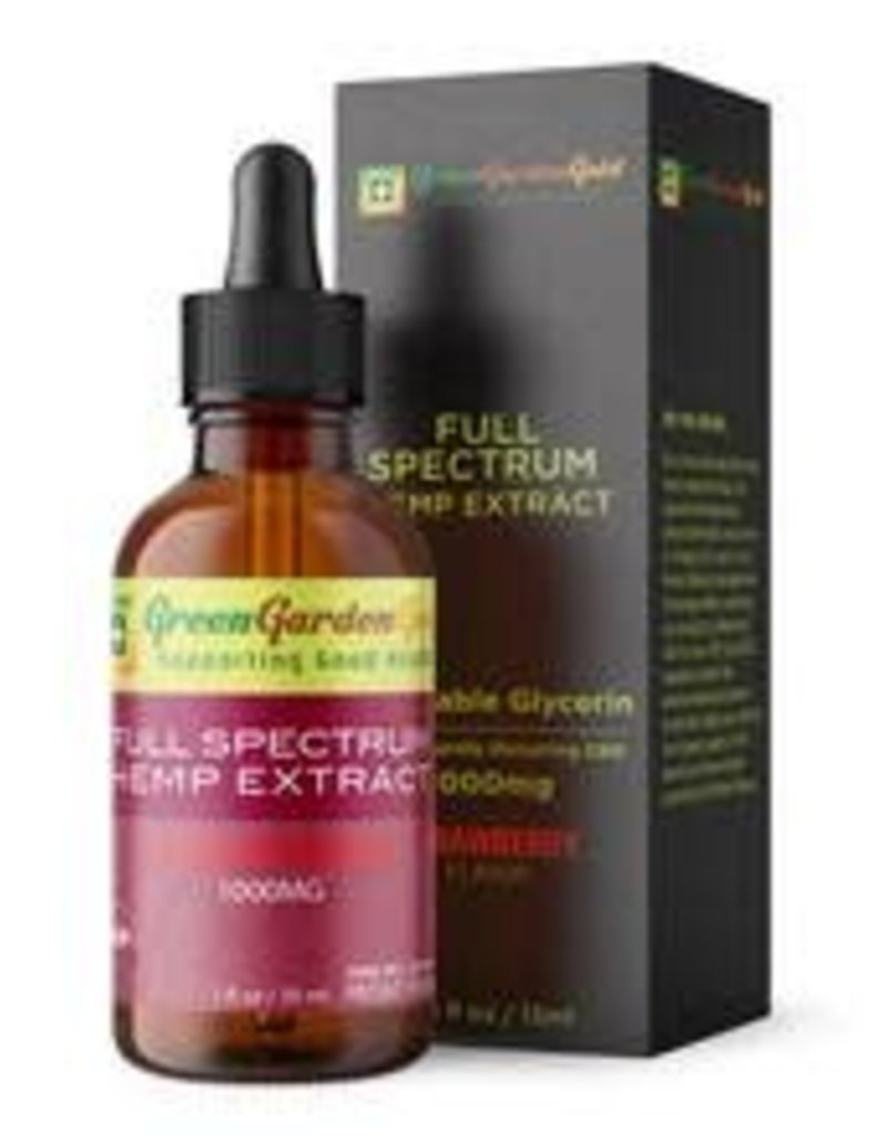 Green Garden Gold Green Garden Gold 1000MG 30ML CBD Oil Strawberry Platinum