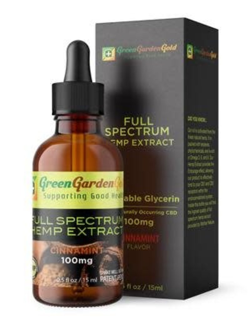 Green Garden Gold Green Garden Gold 100MG 15ML CBD Oil Cinnamint Bronze