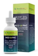 Green Garden Gold Green Garden Gold MCT 500MG 1oz CBD Oil Berry