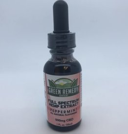 Green Remedy Farms Green Remedy 500mg CBD Full Spectum Peppermint Tincture 1oz