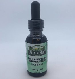 Green Remedy Farms Green Remedy 500mg CBD Full Spectrum All Natural Tincture 1oz