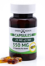 GWR Pharmaceuticals Green Roads 350mg CBD (25mg each) Capsules 14 ct