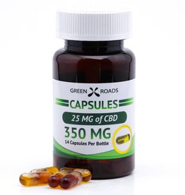 GWR Pharmaceuticals Green Roads 350mg CBD (25mg each) Capsules 14 ct
