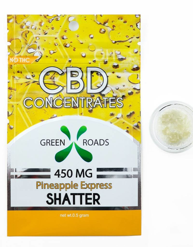 GWR Pharmaceuticals Green Roads 450mg CBD - 1/2 Gram Pineapple Shatter