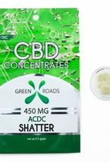 GWR Pharmaceuticals Green Roads 450mg CBD - 1/2 Gram Sour Diesel Shatter