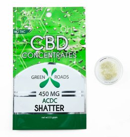 GWR Pharmaceuticals Green Roads 450mg CBD - 1/2 Gram Sour Diesel Shatter