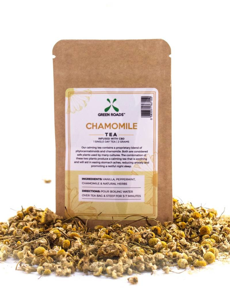 GWR Pharmaceuticals Green Roads 7.6mg CBD Chamomile Tea 1 Day