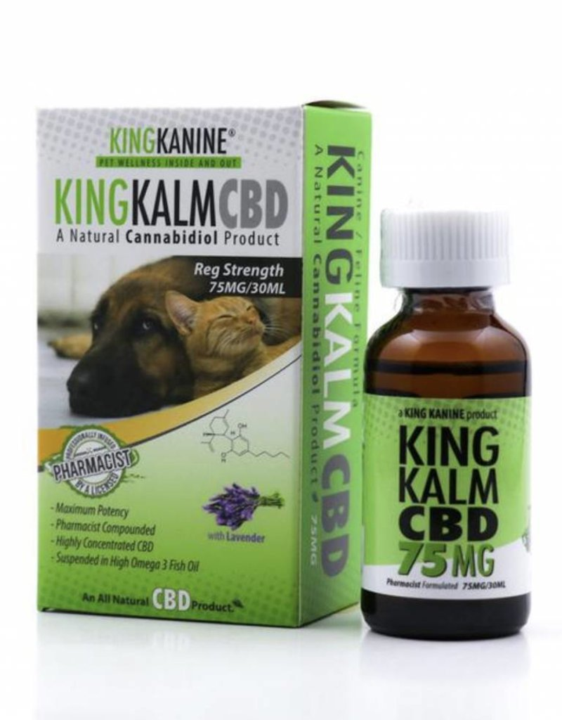 GWR Pharmaceuticals Green Roads 75mg CBD 30ml Bottle King Kalm For Pets