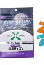 GWR Pharmaceuticals Green Roads CBD 60mg Sleepy Z's Gummies
