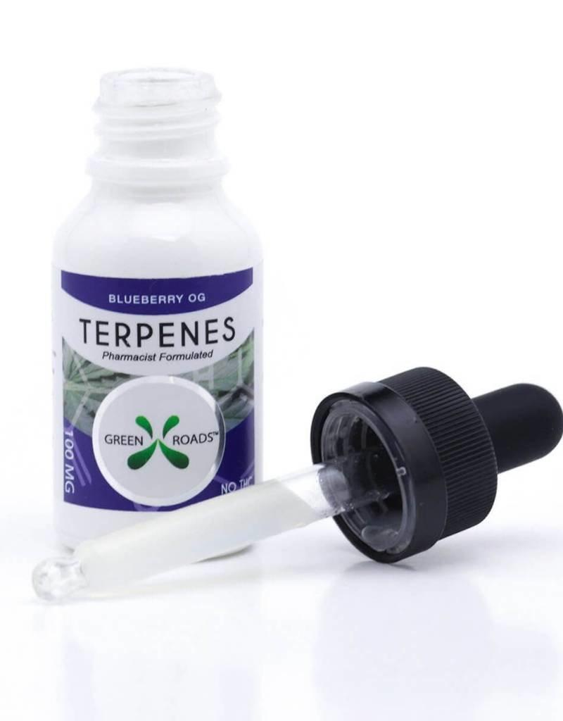 GWR Pharmaceuticals Green Roads 100mg 15ml CBD Terpenes Blueberry OG