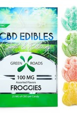 GWR Pharmaceuticals Green Roads 100mg CBD (25mg Each) 4 Per Pack Froggies