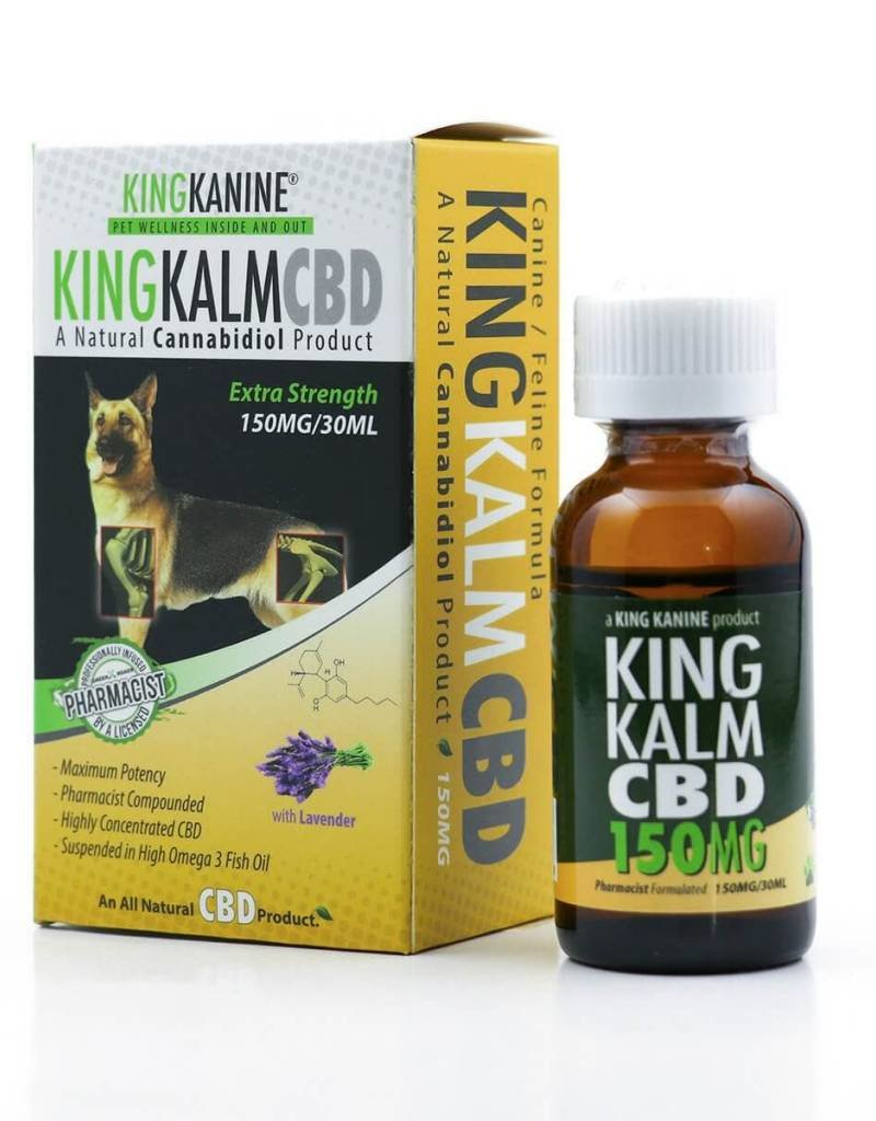 GWR Pharmaceuticals Green Roads 150mg CBD 30ml Bottle King Kalm For Pets