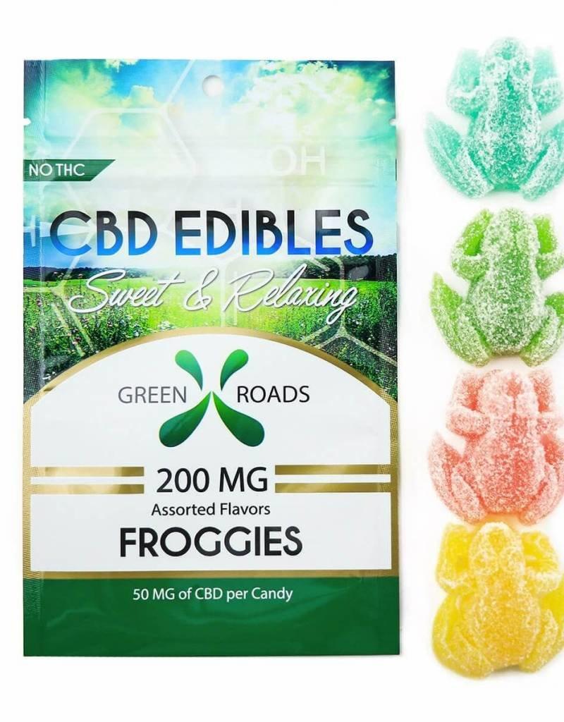 GWR Pharmaceuticals Green Roads 200mg CBD (50mg Each) 4 Per Pack Froggies