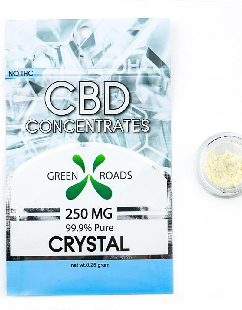 GWR Pharmaceuticals Green Roads 250mg CBD - 1/4 Gram ( 99.9% Pure ) Dab Crystal