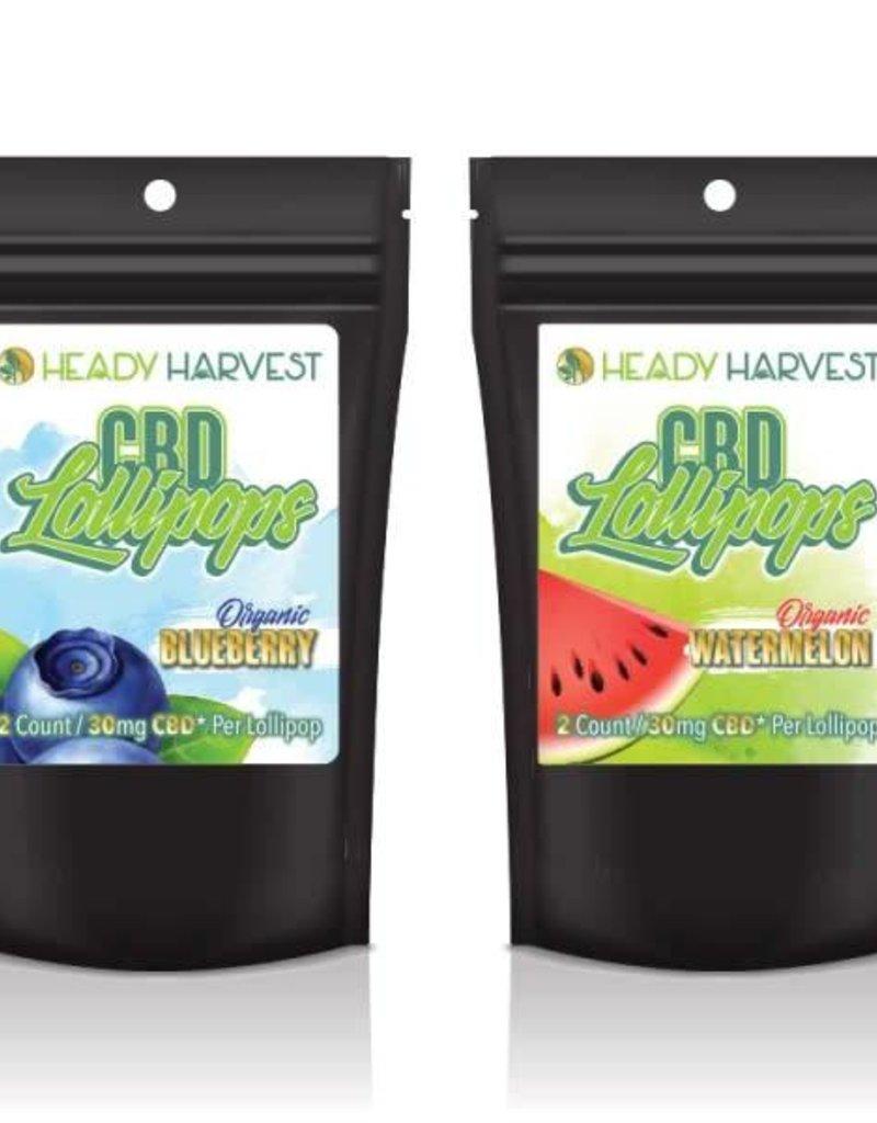 Heady Harvest Heady Harvest 60mg CBD Lollipops - Peach