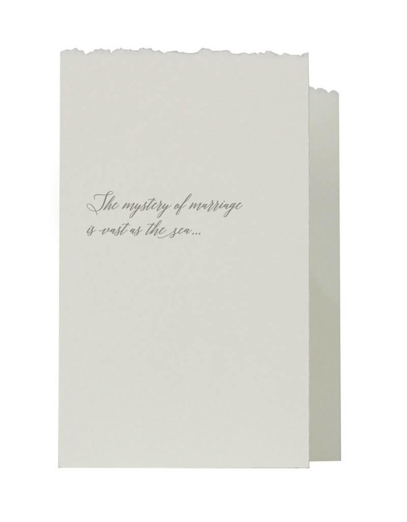 Oblation Papers & Press accordian fold notes - marriage