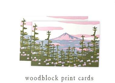 woodblock print cards