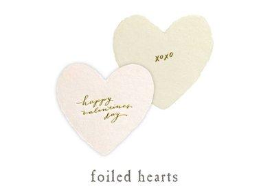 petite foiled hearts