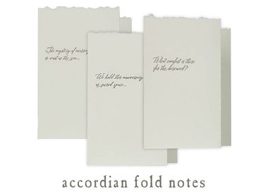 accordion fold notes