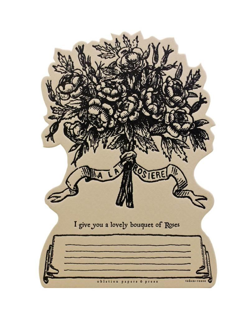 Oblation Papers & Press tokens - roses