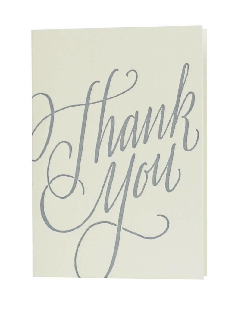 thank you notes - calligraphy - Oblation Papers and Press