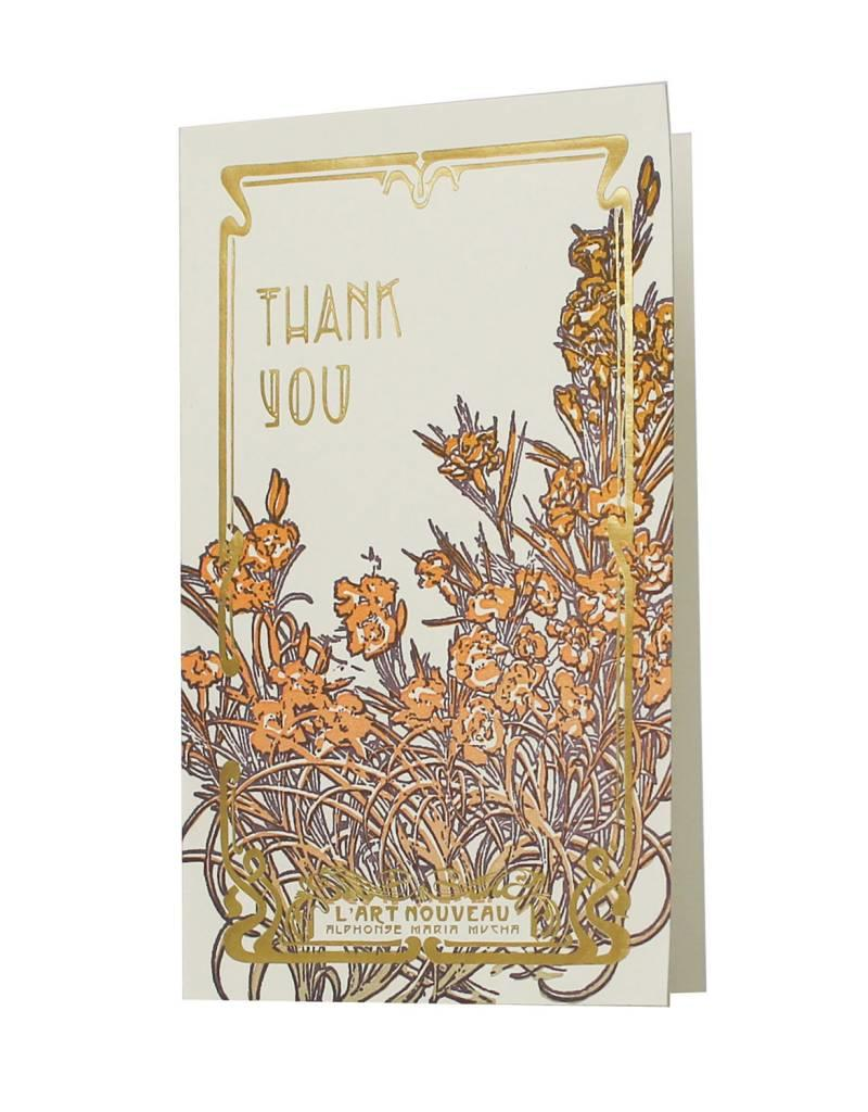 Oblation Papers & Press art nouveau notes - thank you