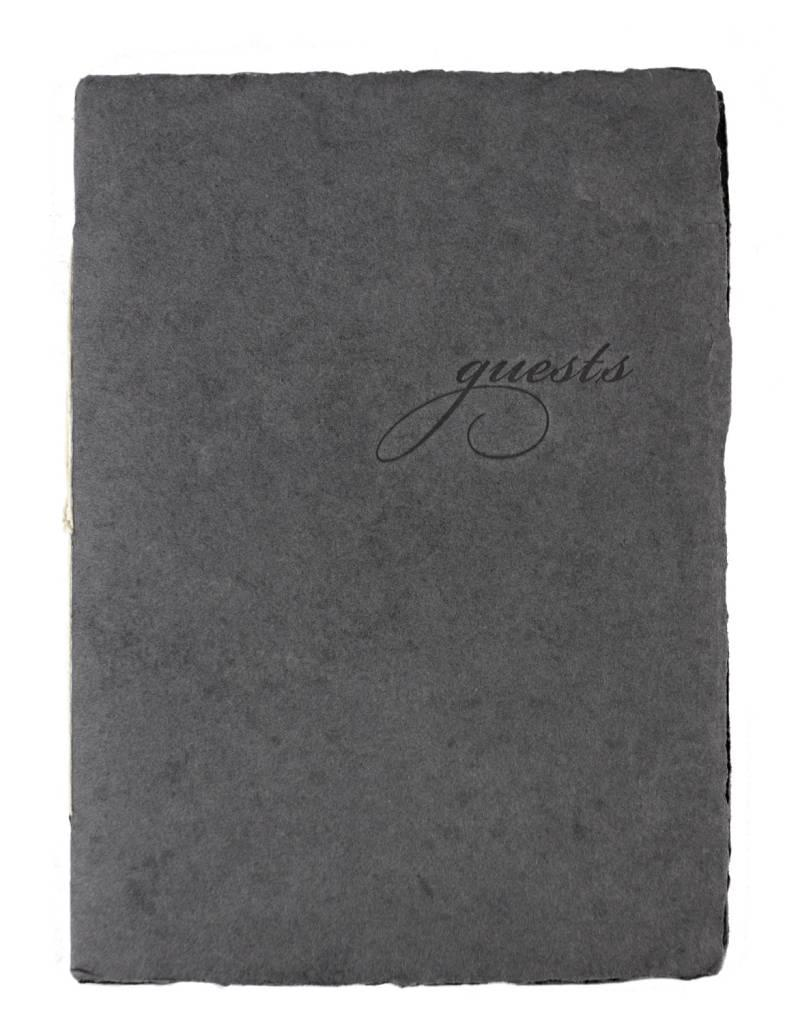 Oblation Papers & Press mini guest booklet - charcoal