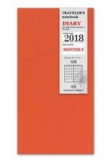 Traveler's Company traveler's company - monthly refill - 2018 diary