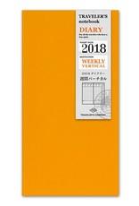 Traveler's Company traveler's company - weekly vertical  refill - 2018 diary