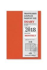 Traveler's Company traveler's company - monthly refill - passport 2018 diary