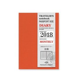 Traveler's Company Passport Size Refill 2018 Monthly