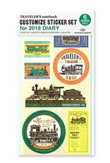 Traveler's Company traveler's company - customize sticker - 2018 diary
