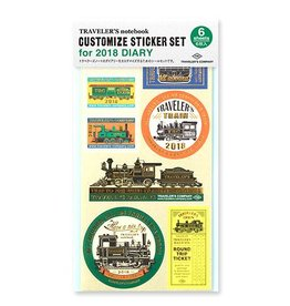 Traveler's Company Customize Sticker 2018 Diary
